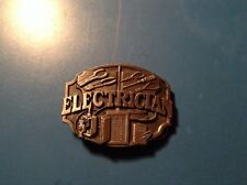 NF03103 VINTAGE 1987 **ELECTRICIAN** COMMEMORATIVE PEWTER SISKIYOU BELT BUCKLE