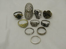 Sterling Silver Jewelry Ring Lot Flower Vintage Southwestern Link Style