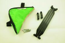 TRIANGLE TOOL BIKE FRAME BAG POUCH + SHOULDER STRAP CARRY YOUR BIKE NEON GREEN