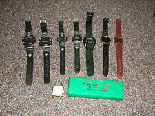 Lot of 8 watches sports and fashion plus 1966 vintage  Hong Kong watch box