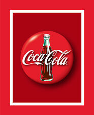 Sykel Coca-Cola Coke Bottle Red Cotton Fabric Panel