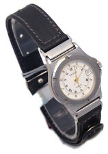 VETTA OROLOGIO DONNA DATA ACCIAIO PELLE WATCH WOMAN DATE STEEL LEATHER NUOVO