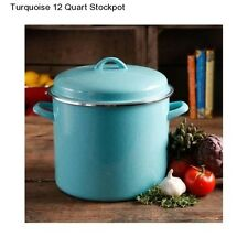 New Pioneer Woman Turquoise Large 12 Quart Stockpot Cookware Kitchen Vintage Pot