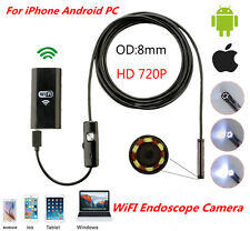 5M 6LED HD 720P WiFi Borescope Inspection Snake Tube Camera Endoscope Waterproof
