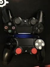 Lot of 2 Sony Playstation DualShock 4 Custom Controller (Red/White Buttons)