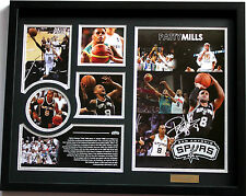 New Patty Patrick Mills Signed San Antonio Spurs Limited Edition Memorabilia