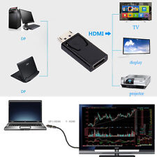DISPLAY PORT DP MALE TO HDMI FEMALE ADAPTER CONNECTOR CONVERTOR FOR HDTV PC