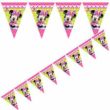 Minnie Mouse Bow-tique Childrens Kids Birthday Party Flag Banner 2.3m