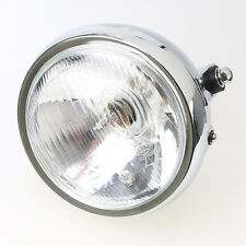 Front 6 Inch 6-Volt 60W Round Motorcycle Side Mount Chrome Headlight Clear Bulb