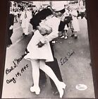 VJ Day Kiss Signed WWII 8x10 photo Edith Shane Carl Muscarello, Coa JSA SCARCE