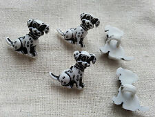 6 x Kids Buttons Clothing Sewing Knitting Card Making Dalmatians