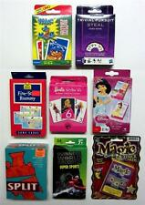 LOT OF 8 PLAYING CARD GAMES BARBIE STYLIN 6'S DISNEY GO FISH TRIVIAL PURSUIT 136