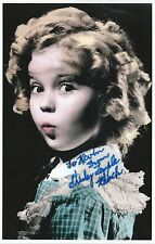 SHIRLEY TEMPLE Signed 10x6 Photo LITTLE MISS BROADWAY COA