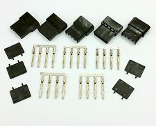 Pk de 5 - 4 Pin Molex PSU para PC Conector de alimentación Passthru male/female-black Inc Pins