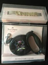 Juicy Couture Bling Ltd Ed Retractable Dog Leash & Gold pet collar set NWT $90