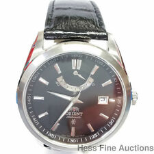 Minty Orient Mens Automatic Quickset Date Power Reserve Steel Watch