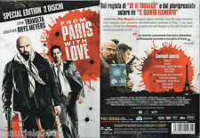 From Paris with Love (2009) 2 DVD NUOVO Special Edition John Travolta, Jonathan