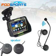 "4.3"" Touchscreen waterproof Motorcycle GPS Navigation NAV 8GB+Bluetooth headset"