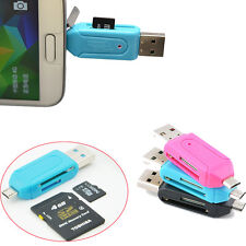 Fashion Style SD+Micro SD/T-Flash Memory Card Reader to USB 2.0 Adapter New