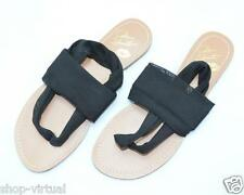 Colin Stuart New Womens Black Mesh Stretch Thong Sandals Shoes MSRP $38 Size 6.5