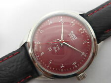 VINTAGE HMT JANATA HINDI HAND WINDING MENS INDIA STEEL WRIST WATCH RUN ORDER