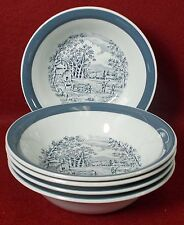 """MEAKIN, ALFRED china HOME IN THE COUNTRY Set of 5 FRUIT or Dessert BowlS 5-3/8"""""""