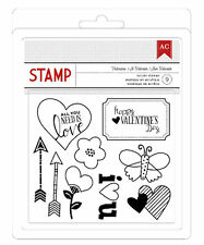 American Crafts Stamp Collection-VALENTINE (9) Acrylic Stamps