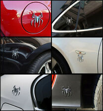 2017 Car Body Rear Trunk Tank Cover 3D Silver Spider Emblem Decal Sticker Badge