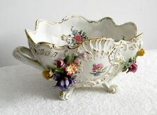 Dresden Gremany large porcelain bowl with flowers - marked - FREE SHIPPING