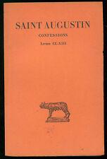 DE LABRIOLLE PIERRE SAINT AUGUSTIN CONFESSIONS TOME II BELLES LETTRES 1961