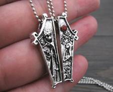 2PC Set The Nightmare Before Christmas Necklace Pendant Jack & Sally JEWELRY HOT