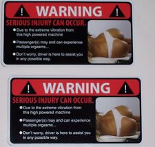 2 Sexy Vibration Warning Decal #2 Sticker Yamaha Commander Spyder Renegade UTV