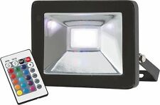 Knightsbridge IP65 20W RGB LED Die-Cast Aluminium Floodlight with Remote Control