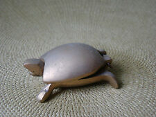 Small Vintage Solid Brass Turtle Figurine with Hinged Shell Trinket Box 42143