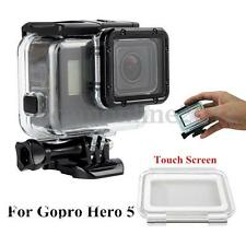 Underwater 45m Waterproof Housing Case Cover+Touch Back Cover For Gopro Hero 5