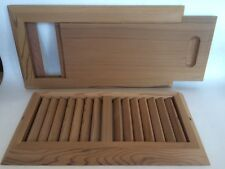 WESTERN RED CEDAR SAUNA VENTILATION GRILL AND SLIDE VENT SET +  FREE SHIPPING!