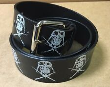 NEW STAR WARS Darth Vader PVC Coated Leather Snap On Belt  L/XL 34-36 Waist RARE