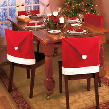 Fashion Santa Claus Hat Chair Back Covers Christmas Dinner Table Decor