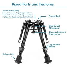 6 to 9 Inch Adjustable Handy Spring Return Sniper Hunting Tactical Rifle Bipod