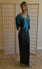 Alyce Designs - Gown/Dress/Formal/Cocktail - Size 8 - Blue Sequins