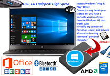 WINDOWS 10 PORTABLE PC HDD + LAPTOP + DESKTOP + OFFICE 2013 + USB 3.0 + NEW