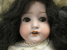 Antique German Heubach Bisque Head 275.1 Brown Sleep Eyes 4 Teeth Kid Doll  yqz