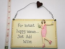 Happy Women Plaque Novelty Birthday Gift Ideas for Friends Her Mum