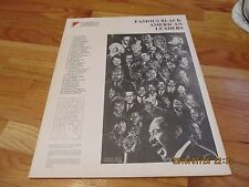 1985 FAMOUS BLACK AMERICAN LEADERS NABISCO BRANDS POSTER PRINT James Huff