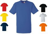 Fruit of the Loom Adults Plain Cotton Short Sleeve Heavy Tee T-Shirt No Logo