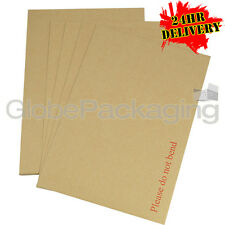 250 x C4 A4 Board Back Backed Envelopes 324x229mm PIP