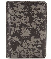 TUMI CHAMBERS GUSSETED CARD CASE ID LEATHER WALLET GUNMETAL #012656GDP -NWT