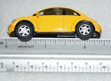 Diecast Miniature Volkswagen VW New Beetle Small Scale Yellow Color 2.5""