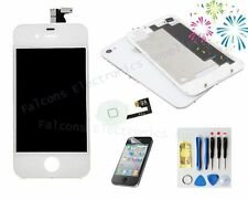 LCD Touch Screen Digitizer Glass Assembly Replacement for iPhone4+back+button