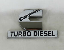 DODGE RAM TRUCK CUMMINS TURBO DIESEL EMBLEM 06-12 FRONT FENDER OEM CHROME BADGE